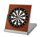 Mini Wooden Desktop portable dartboard wall protection surround cabinet