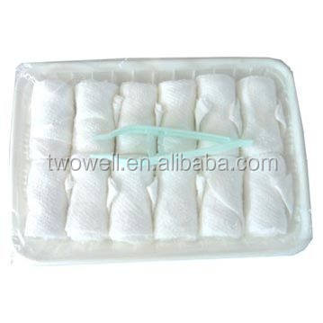 cotton refresh airline towels in tray and box