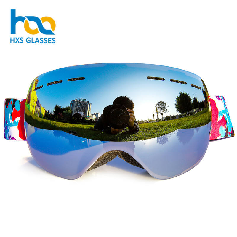 High Quality Double Layers Anti-Fog Mirror Lens UV400 Custom Winter Snowboard Sport Eyewear Ski Goggles for Adult