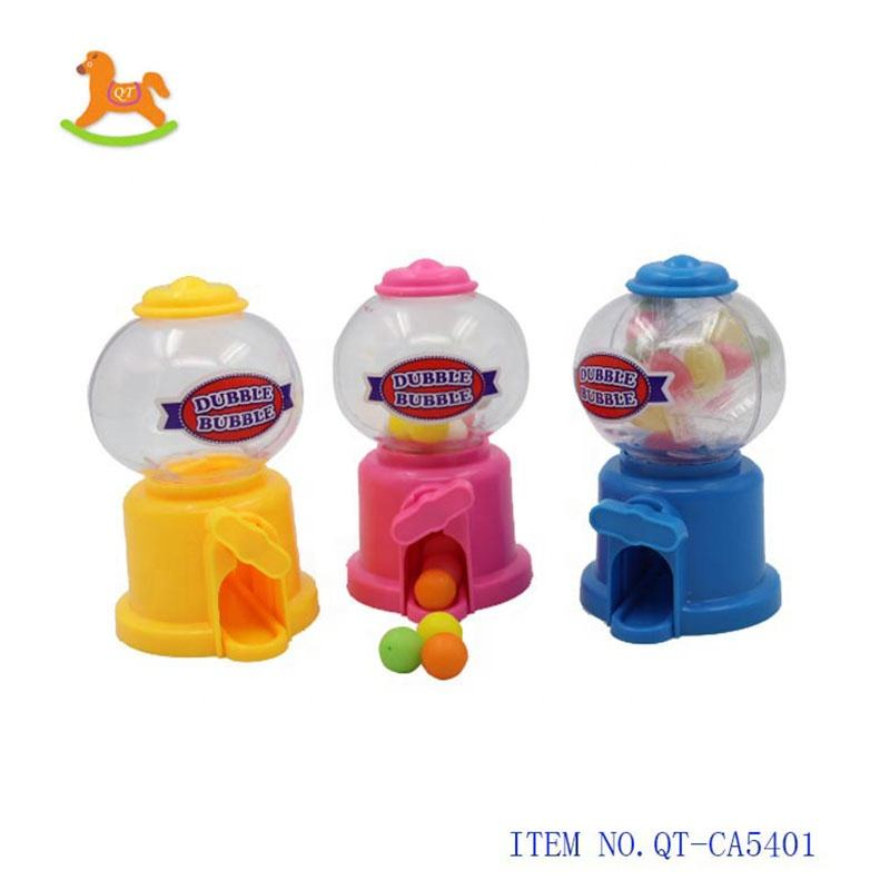 Round small candy dispenser mini gumball machine sweet candy toy for kids