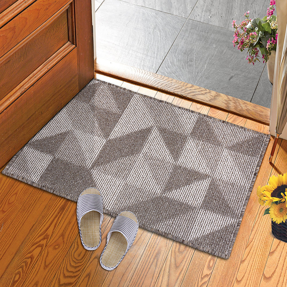 Waterproof Anti-Slip Embroidered t With TPR Back bath mat