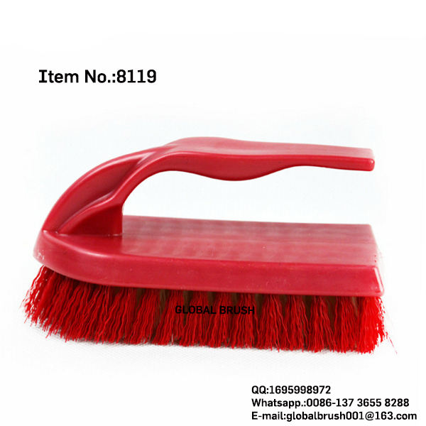 HQ8119 household cleaning tools PP wash brush iron shaped washing scrubbing brush