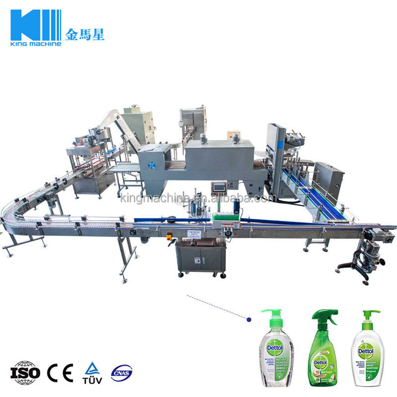 Hot Sale Automatic Liquid Soap Filling Production Line