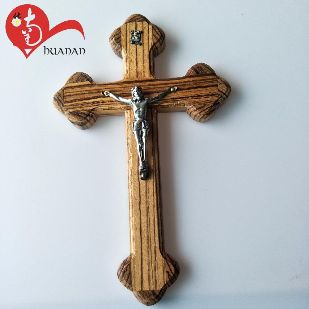 Hot selling catholic decorative religious crafts resin wall crucifix cross