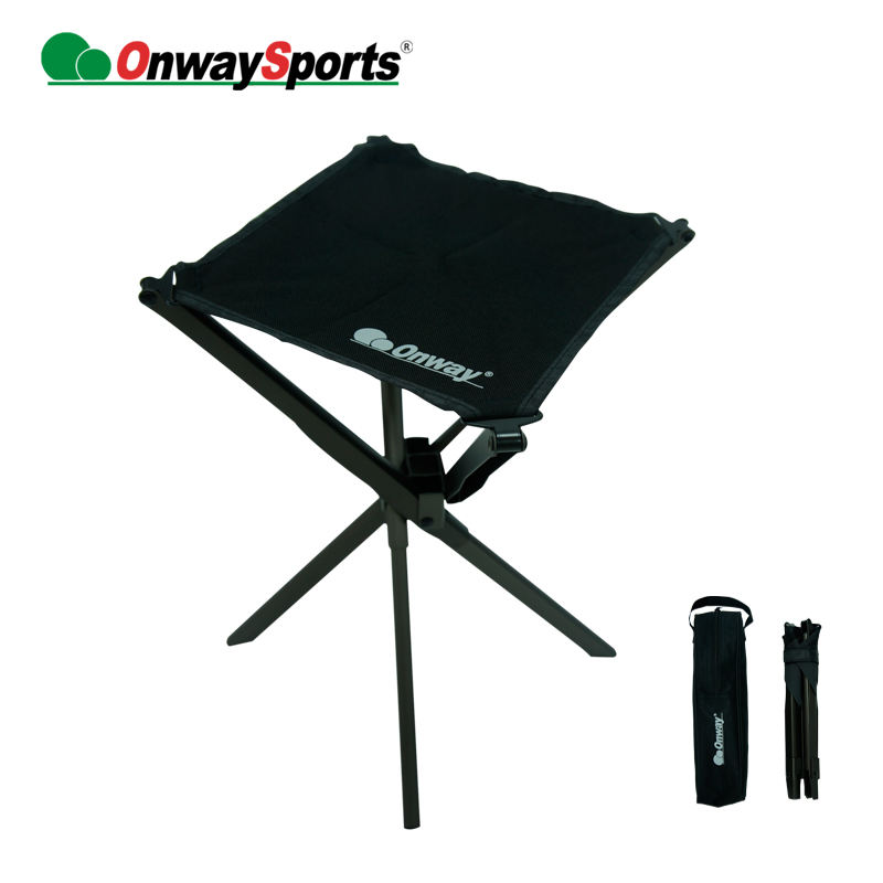 Onwaysports Black aluminum easy carrying small folding pocket chair