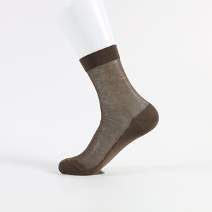 summer thin crew ankle men business man mercerized cotton socks