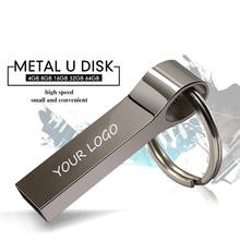 Mini metal 16 gb  pen usb flash drive 2.0  4gb 8gb 16 gb 32g 64gb usb stick pendrive with logo