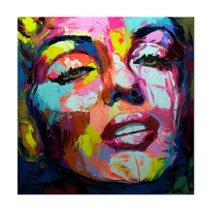 Marilyn Monroe Colorful Woman Portrait Knife Oil Painting Professional Hand Painting Modern Pop Art wall art cuadros decorativos
