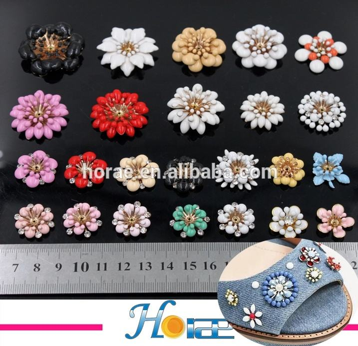 New rhinestone shoe buckle colorful flower loose beads for shoe and bag decoration