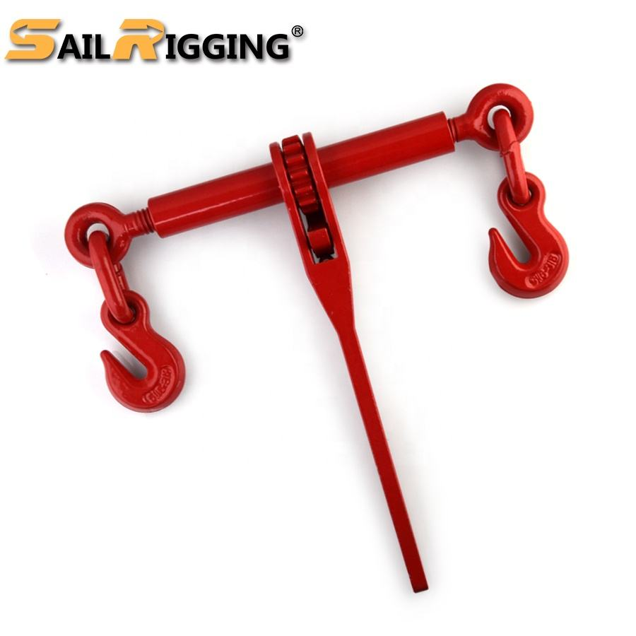G80 China Marine Rigging Hardware Forged Handle Standard Ratchet Type Load Binders Hook and Hook