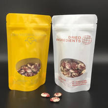 custom print nuts packaging bags/dry food stand up zip lock pouches