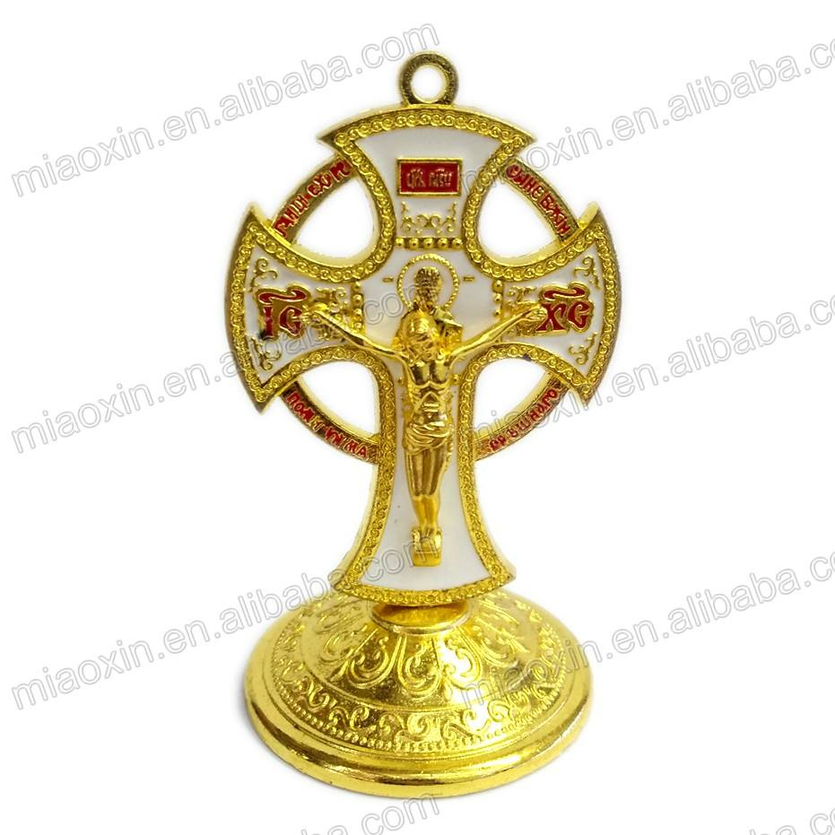 Cheap Catholic rosary holy Jesus cross durable st benedict alloy crucifix
