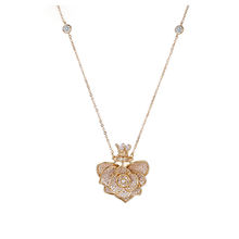 necklace-00651 xuping 18K gold plated flower shape elegant sweater chain necklace