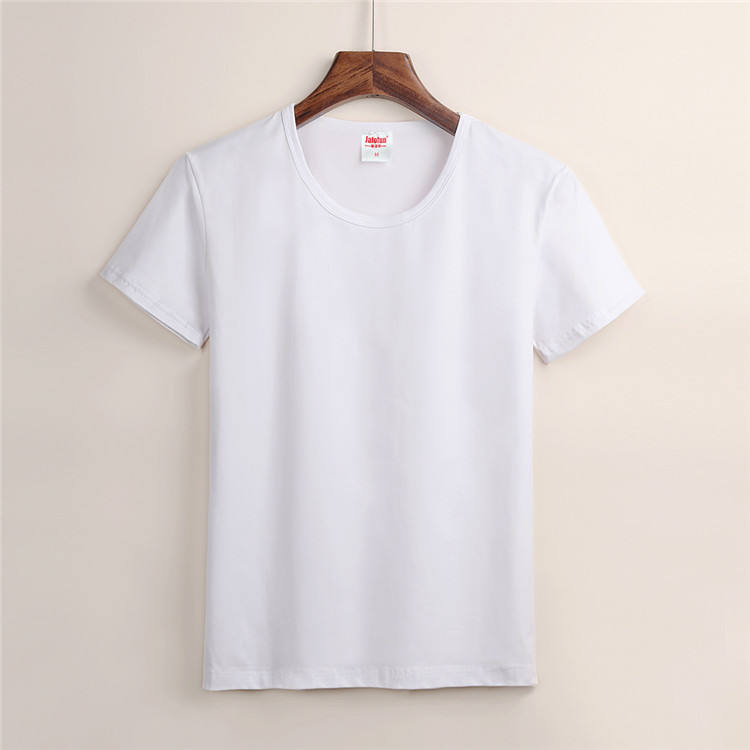 Short Sleeve Soft Touch Sublimation Blank White 180g Modal Man Women Sublimation T Shirt for Sublimation Printing in Stock