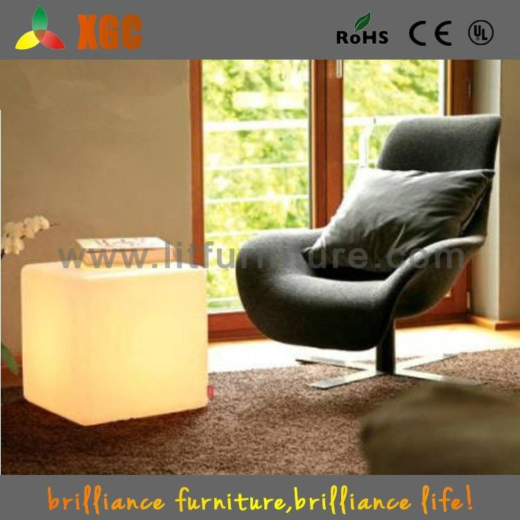 Multicolor High Light Transmission Polymethylene Ottoman