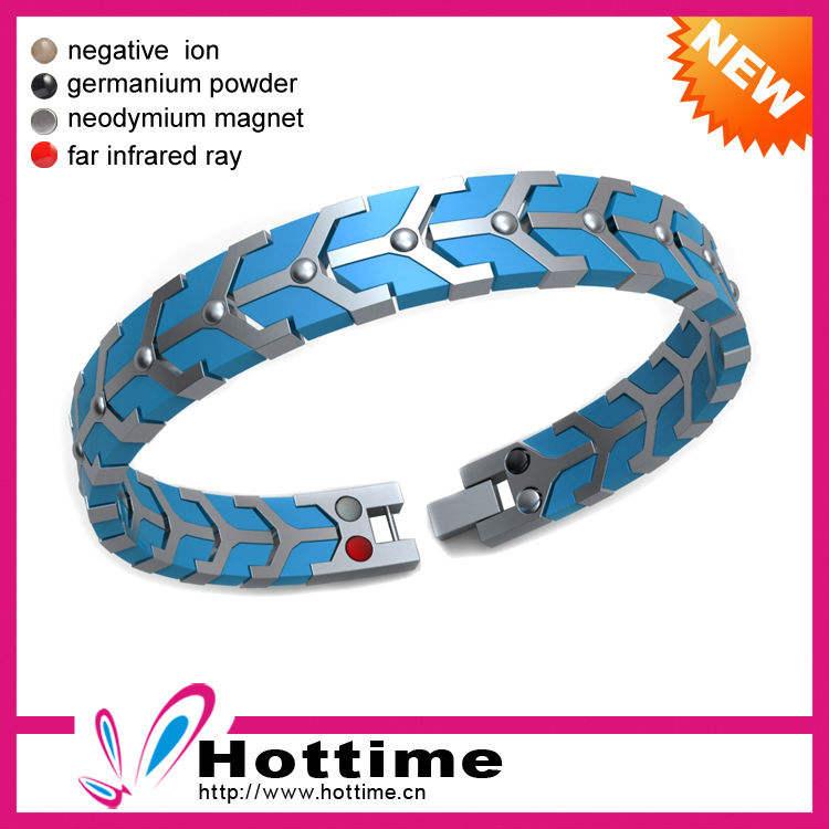 Pedra energia Bio magnético Silicon Wrist Band para o homem
