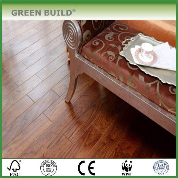 Elm <span class=keywords><strong>solide</strong></span> bois planchers de bois franc utilisation pour une chambre