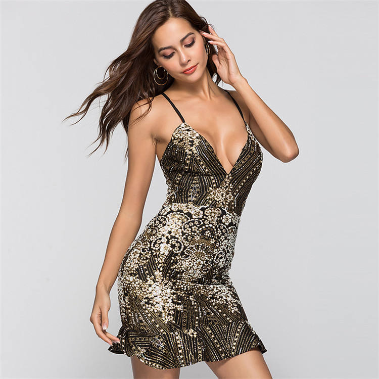 Party Gemengde Kleur Club Sexy Vrouwen Backless Jurk Sexy