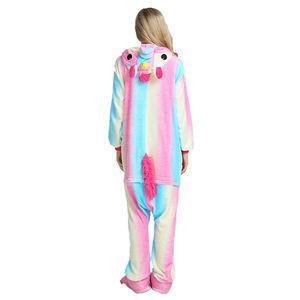 Vendita calda carino rosa costume animale pigiama cartoon onesies