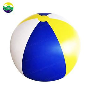 LC Wholesale Custom Printed Jumbo PVC Rubber Beach Ball/Promotional Inflatable Large Giant Plastic Beach Ball