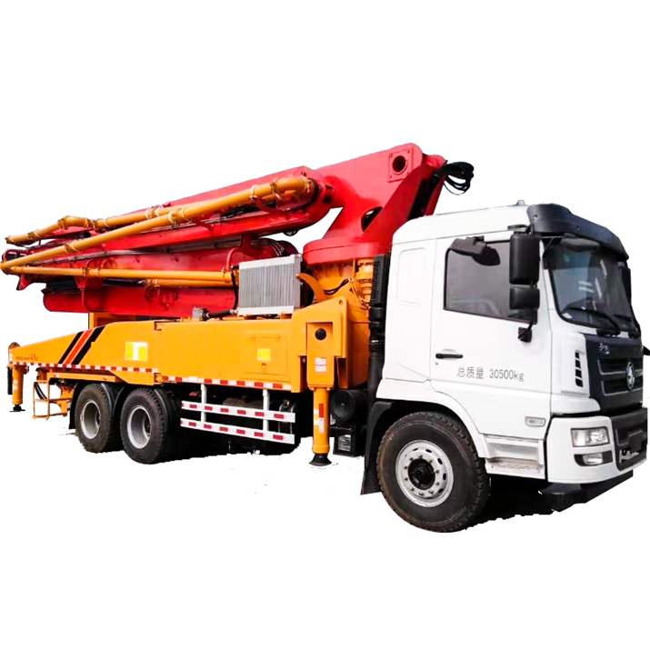 concrete mixer truck affordable 15m3/h Mini Truck Mounted concrete boom pump with mixer