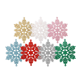 Outdoor hanging white silver christmas decor snowflake ornament