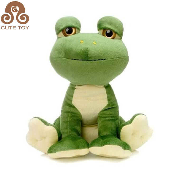free sample lovely soft promotional stuffed toy green plush frog