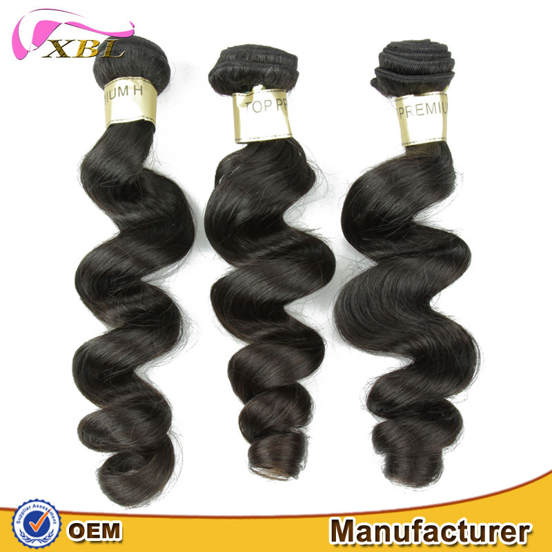 XBL hair can straightened and curl well hot sale cheap 8a Eurasian loose wave virgin hair