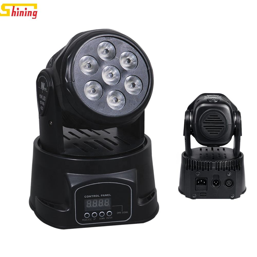 cheap Very hot sale model 7x15w mini beam moving head led disco effect stage lighting