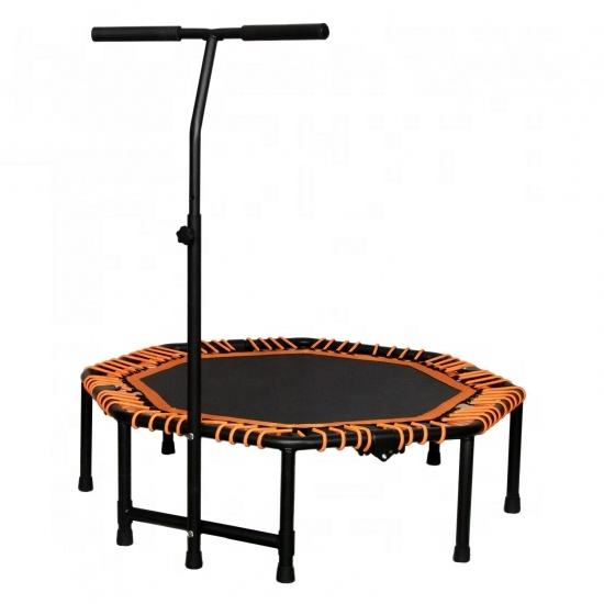 Folding Trampoline 5' Metal Frame 3M Elastic Bungee Ropes Foldable Mini Trampoline Fitness Device