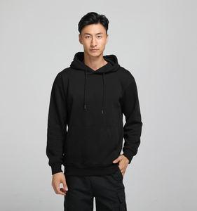 Custom design mens gym 100% organic cotton hoodie wholesale blank plain black hoodies accept custom logo printing /embroidery