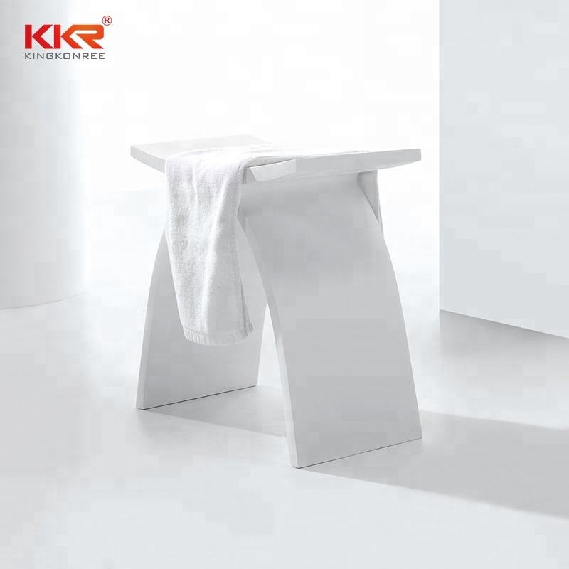Artificial Stone Solid Surface Bathroom Shower Stool