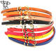 Handmade Band lady candy color thin patent leather belt/women waist strap
