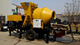 2020 Trailer Mounted Concrete Mixing Pump With Electric&Diesel Motor Mobile Ready Concrete Mixer with Pump Portable