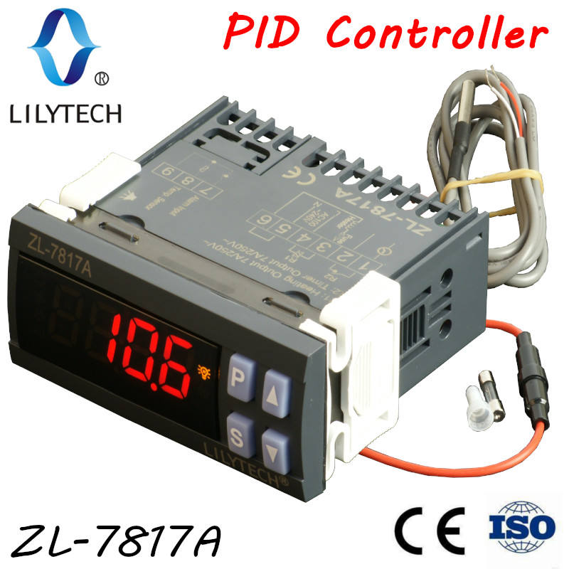 ZL-7817A, PID temperatur controller, PID thermostat, 100-240Vac netzteil, CE, ISO, Lilytech