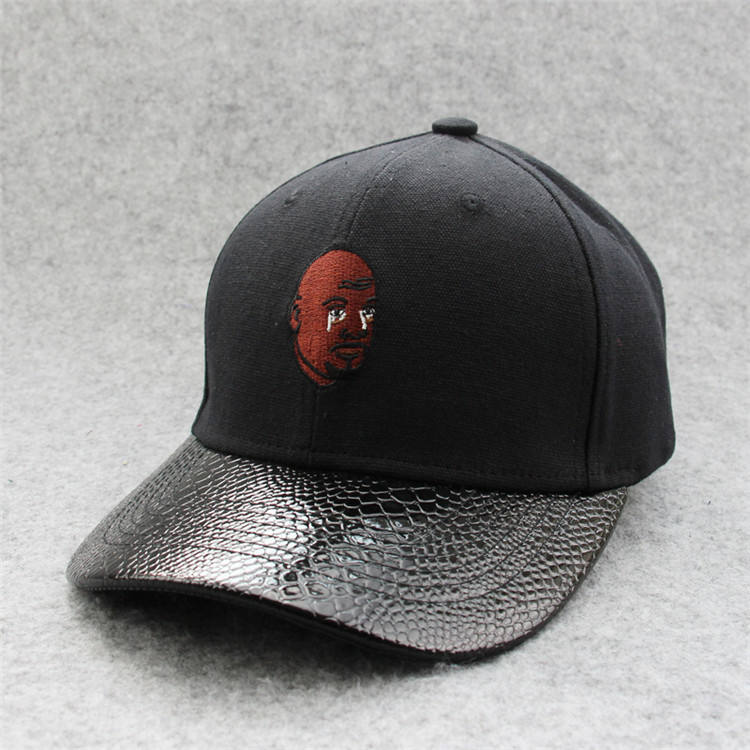 high quality junior korea jean plain leather brim baseball caps