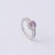 online shopping canada Claw setting purple cubic zirconia stone wedding 5925 diamond silver engagement ring for women