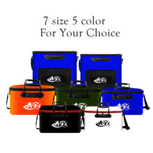 functional EVA fishing tackle bag portable folding waterproof fishing bucket