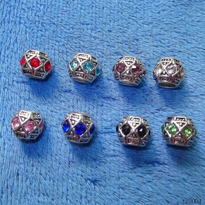 DIY Mixed Rhinestones Spacer Beads Accessories