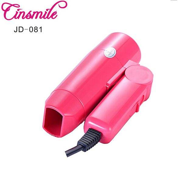 Mini foldable hair dryer for household and travel use with small concentrator