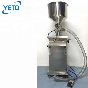 Stainless Steel Vertical Piston Cream Paste gel Tube Filling Machine
