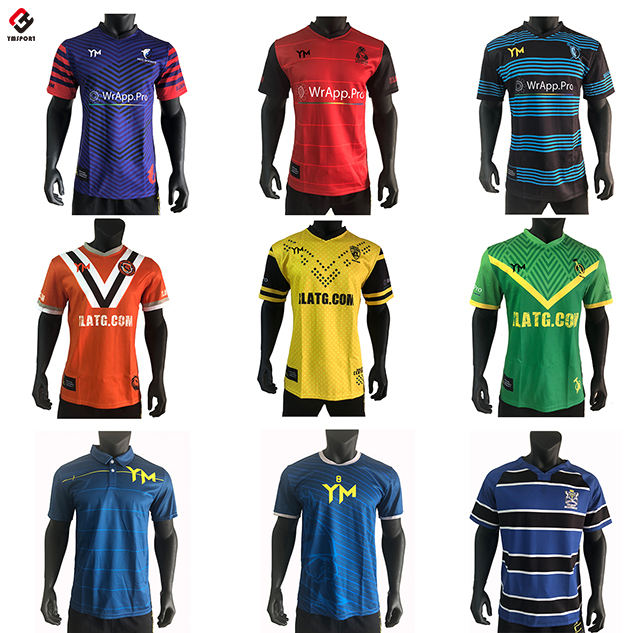 Sublimated Durable Strong Stitching Rugby Jersey Bartack Styles Rugby Shirt Different Styles Rugby Top
