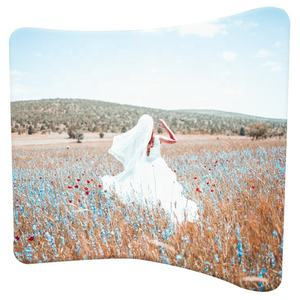 EZ tube fabric display portable curved pillow case back drops beautiful wedding backdrop stand