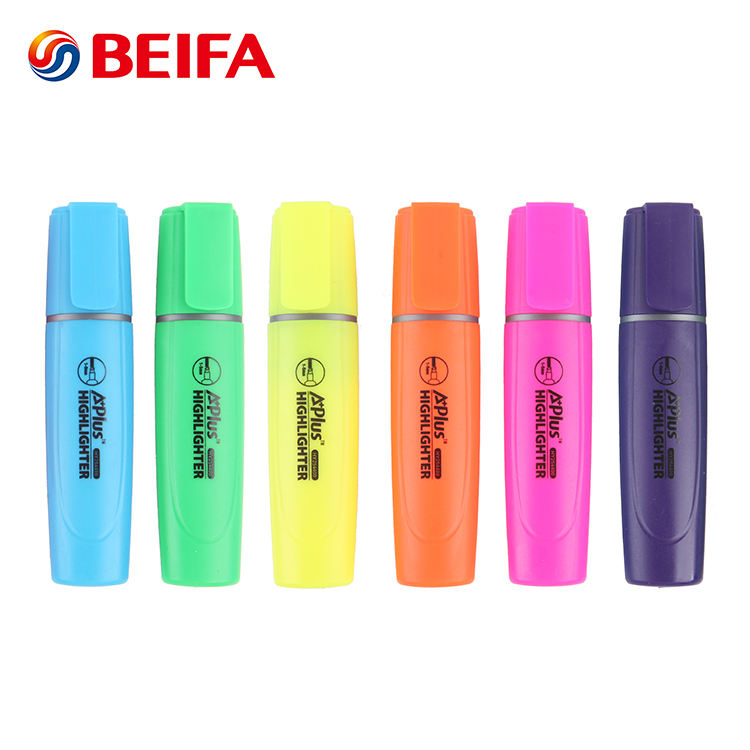 Beifa Brand HY254400 High Quality Chisel Tip Multi Colored Fancy Highlighter Pen