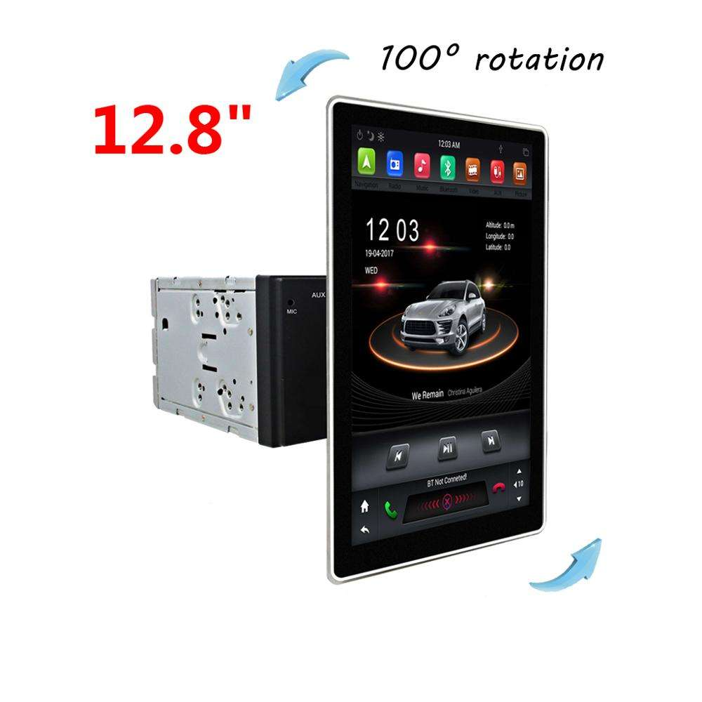 Klyde KD-1280 180 degree rotation Tesla style universal model with android 8.1 system PX6 Car multimedia system