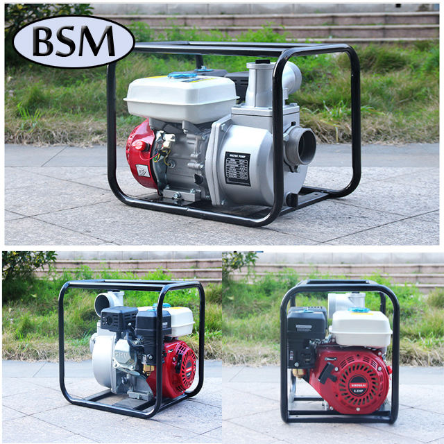 hot sell 4 inch trash/dirty water pump driven by 16Hp gasoline/diesel engine