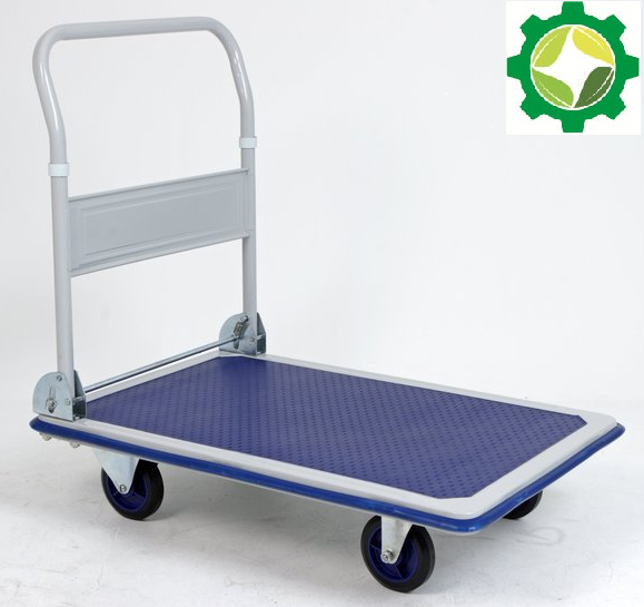 foldable steel four wheel muted Flatbed cart platform trolley