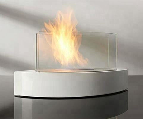 Bio ethanol fireplace FD135W + Stainless steel + Tabletop fireplace
