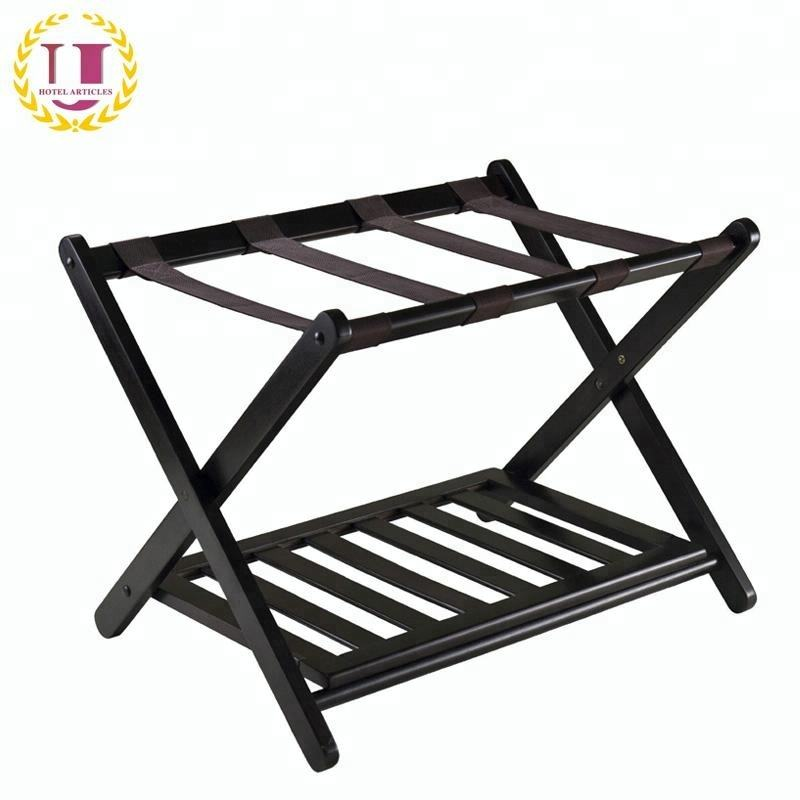 Vintage Folding Wood Luggage Rack Stand Suitcase Stand