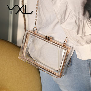 Factory direct sell cheap women stylish clear acrylic evening clutch bag